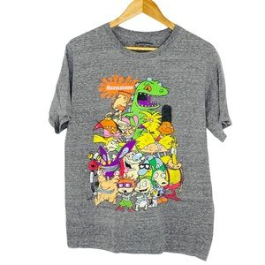 Nickelodeon Vintage Style 1990s TV Shows Graphic T-shirt Size Medium